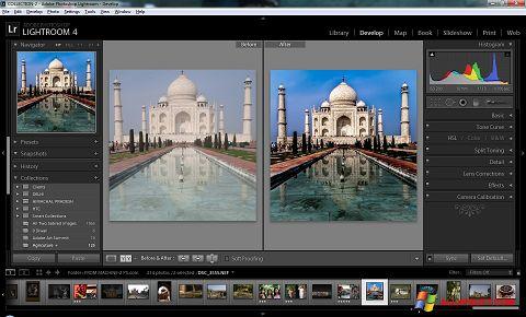צילום מסך Adobe Photoshop Lightroom Windows XP