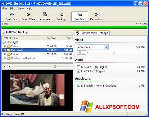 צילום מסך DVD Shrink Windows XP