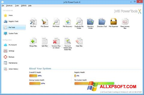 צילום מסך jv16 PowerTools Windows XP