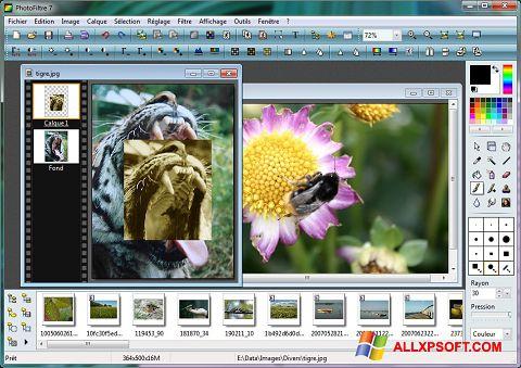 צילום מסך PhotoFiltre Windows XP