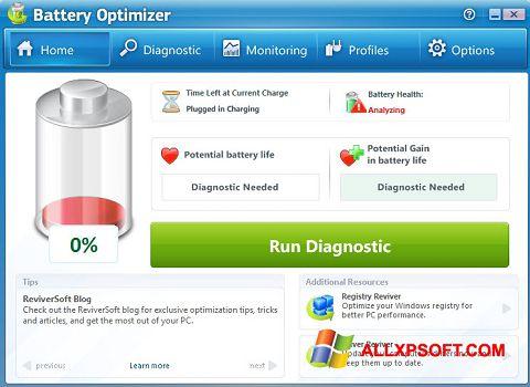 צילום מסך Battery Optimizer Windows XP