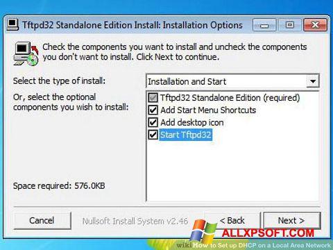 צילום מסך Tftpd32 Windows XP