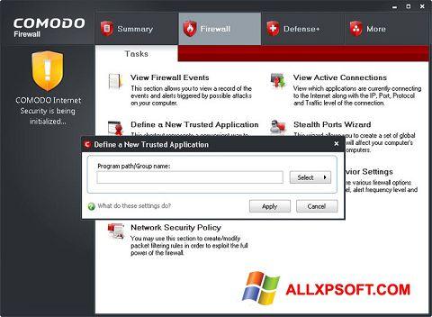 צילום מסך Comodo Firewall Windows XP