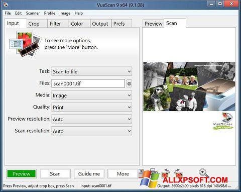 צילום מסך VueScan Windows XP