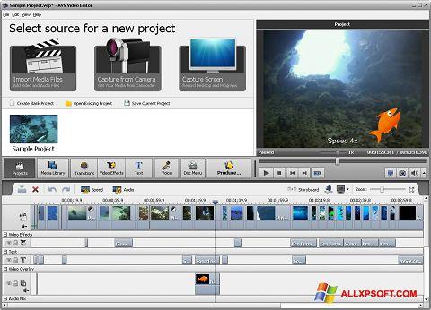 צילום מסך AVS Video Editor Windows XP