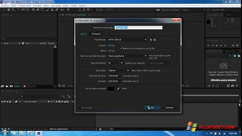 צילום מסך Adobe After Effects CC Windows XP