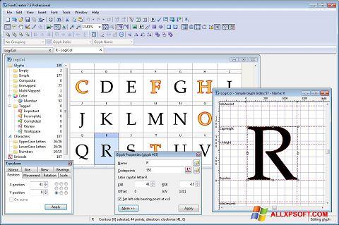 צילום מסך Font Creator Windows XP