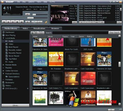 צילום מסך Winamp Windows XP