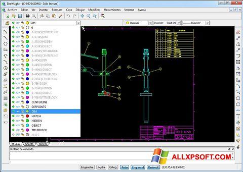צילום מסך DraftSight Windows XP