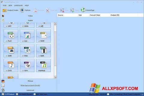 צילום מסך Format Factory Windows XP