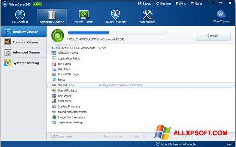 צילום מסך Wise Care 365 Windows XP