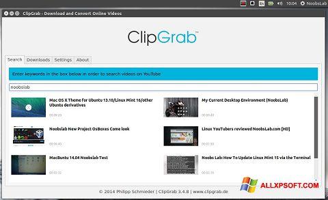 צילום מסך ClipGrab Windows XP