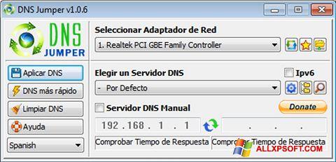 צילום מסך DNS Jumper Windows XP