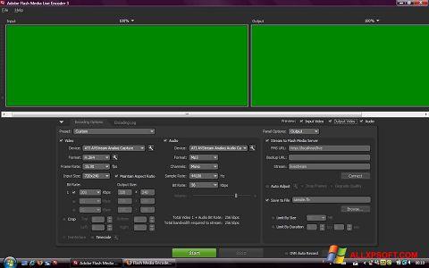 צילום מסך Adobe Media Encoder Windows XP
