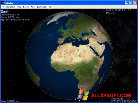 צילום מסך Celestia Windows XP