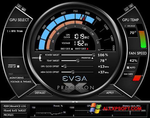 צילום מסך EVGA Precision X Windows XP