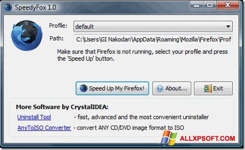 צילום מסך SpeedyFox Windows XP