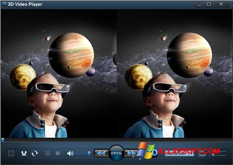 צילום מסך 3D Video Player Windows XP