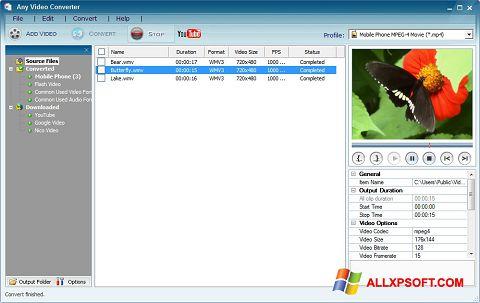 צילום מסך Any Video Converter Windows XP