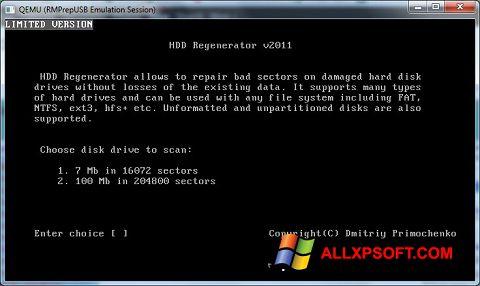 צילום מסך HDD Regenerator Windows XP