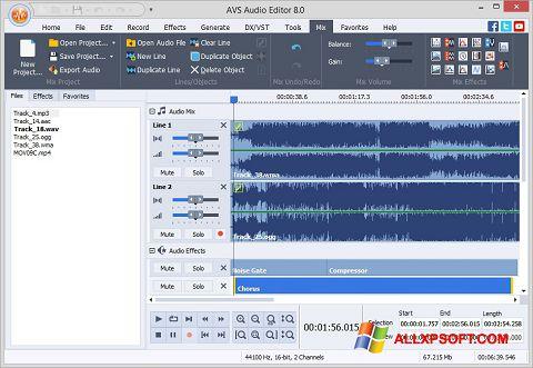 צילום מסך AVS Audio Editor Windows XP
