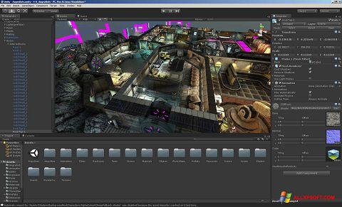 צילום מסך Unity 3D Windows XP