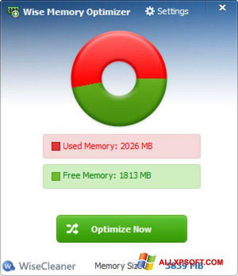 צילום מסך Wise Memory Optimizer Windows XP
