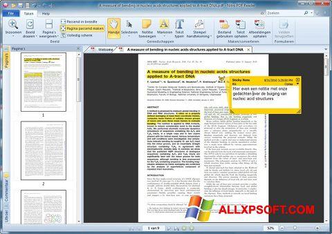 צילום מסך Nitro PDF Reader Windows XP