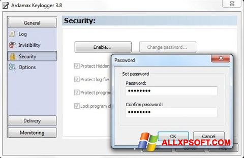 צילום מסך Ardamax Keylogger Windows XP