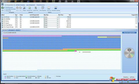 צילום מסך PerfectDisk Windows XP