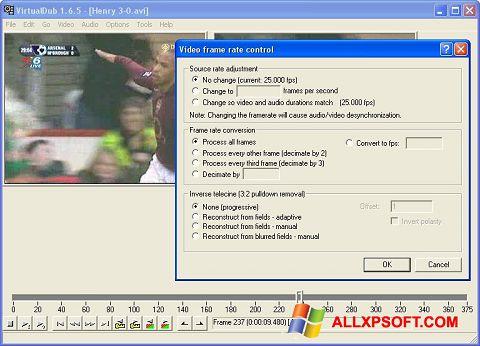 צילום מסך VirtualDubMod Windows XP
