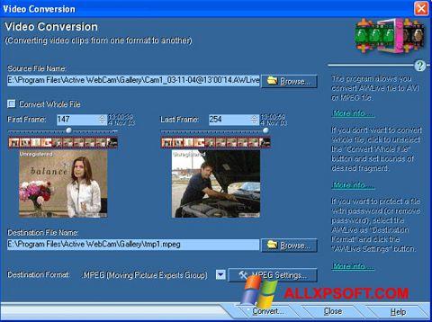 צילום מסך Active WebCam Windows XP