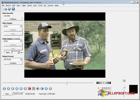 צילום מסך Avidemux Windows XP