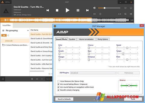 צילום מסך AIMP Windows XP