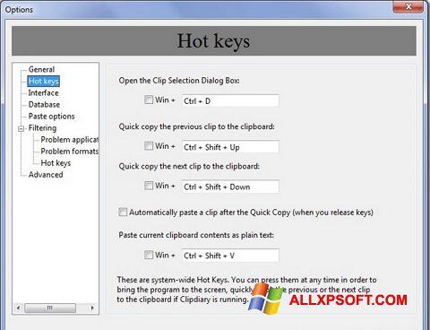 צילום מסך Clipdiary Windows XP