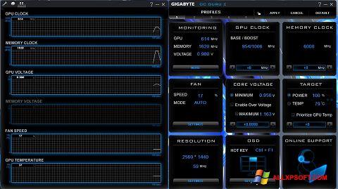 צילום מסך GIGABYTE OC Guru Windows XP
