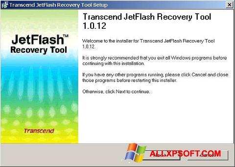 צילום מסך JetFlash Recovery Tool Windows XP