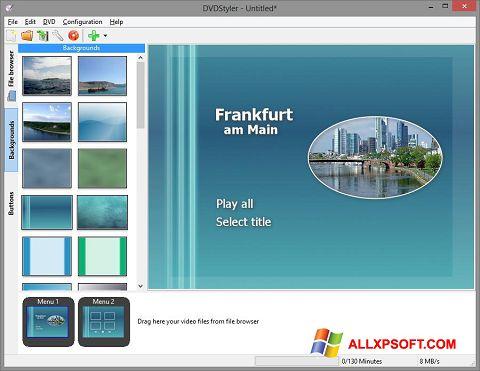 צילום מסך DVDStyler Windows XP