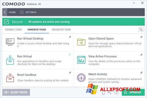 צילום מסך Comodo Antivirus Windows XP