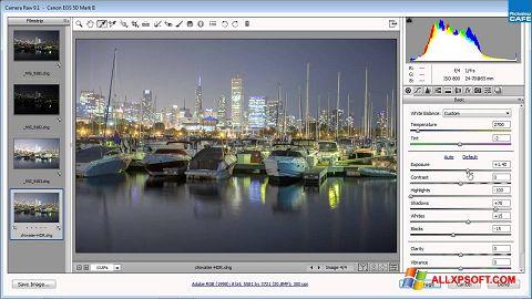 צילום מסך Adobe Camera Raw Windows XP