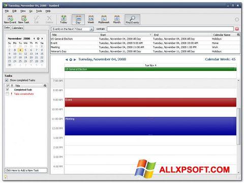 צילום מסך Mozilla Sunbird Windows XP