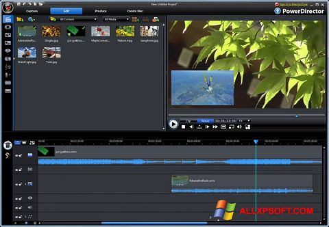 צילום מסך CyberLink PowerDirector Windows XP