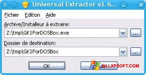 צילום מסך Universal Extractor Windows XP