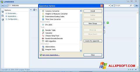 צילום מסך Lingoes Windows XP