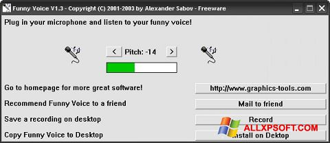 צילום מסך Funny Voice Windows XP