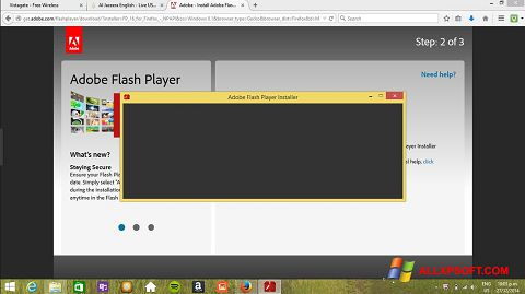 צילום מסך Adobe Flash Player Windows XP