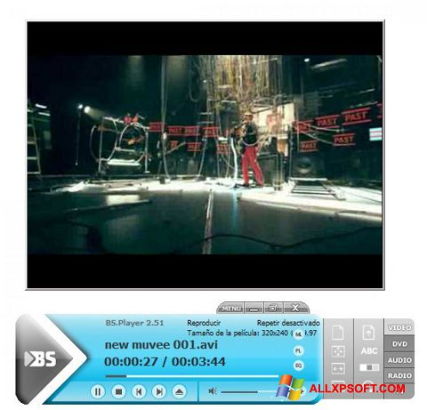 צילום מסך BSPlayer Windows XP