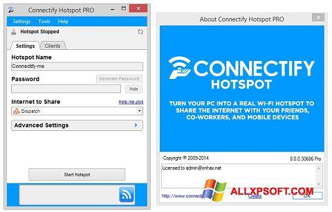 צילום מסך Connectify Hotspot PRO Windows XP
