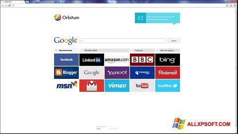 צילום מסך Orbitum Windows XP