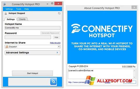 צילום מסך Connectify Windows XP